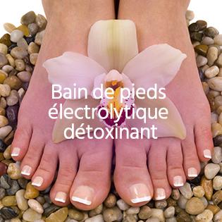 Bain de pieds électrolytique détoxinant