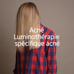 Acné<br /> Luminothérapie spécifique acné